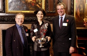 Receiving the Rouyet Guillet Cup - WSET Diploma