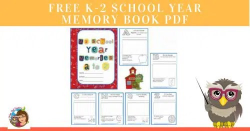 FREE K-2 School Year Memory Book PDF