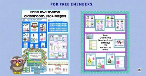 Free Owl Theme Classroom Printables Wise Owl Factory - ViewLetterCO