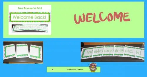 Free Printable Welcome Back Banner \u2022 Wise Owl Factory