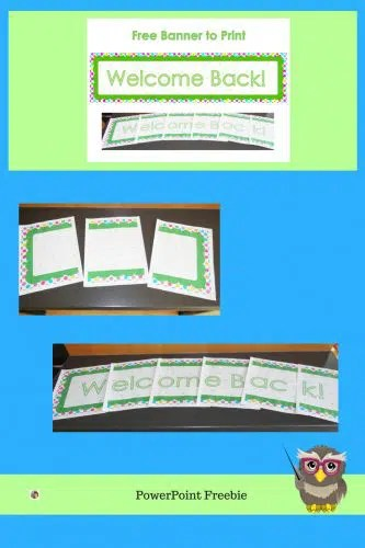 Welcome Back Banner Printable Free free printable welcome back to
