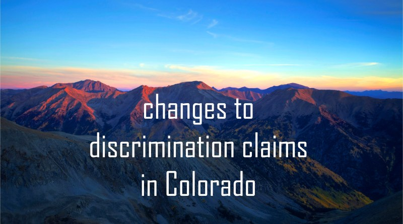 Colorado discrimination