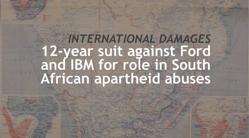 apartheid lawsuit