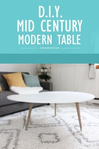 DIY Mid Century Modern Coffee Table (Under $50