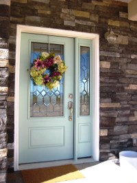 A Painted Front Door - The Wood Grain Cottage