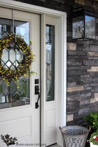 New Painted Front Door - The Wood Grain Cottage