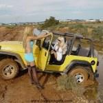 Girls-Jeep-Stuck-In-Mud