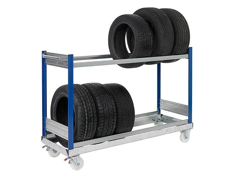 2 Shelf Tyre Trolleys Free Delivery