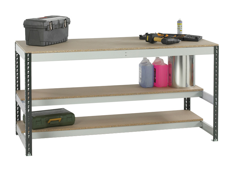 Buy Bolt Free Workbench Chipboard 2x Shelf Free Delivery