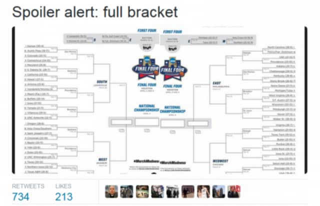 Some Hero Leaked NCAA Tournament Bracket Early