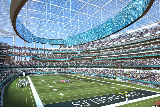 NFL Media Set to Move to New LA Rams, Chargers Stadium in 2021