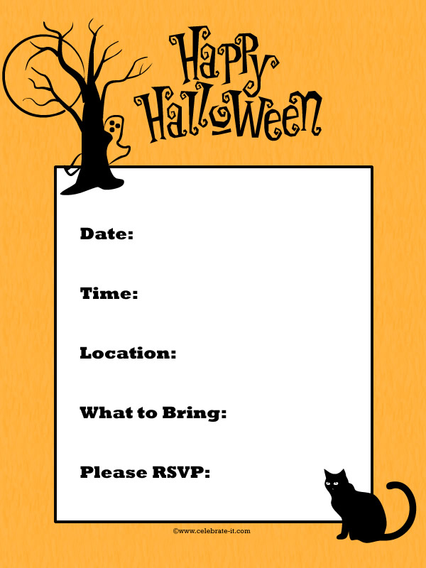 halloween invitations online - Acurlunamedia - invitation for halloween party