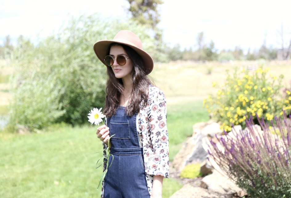 Floral Overall Culottes 4a