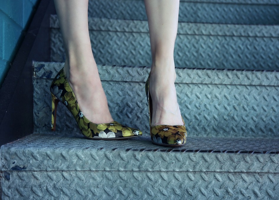 Who What Wear Floral Pumps 4b