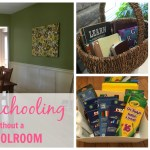 Homeschooling without a Schoolroom - Can you homeschool without having a dedicated schoolroom without the mess of homeschooling consuming your home?