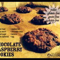 Chocolate Raspberry Cookie Recipe (paleo, grain-free, gluten-free, dairy-free)