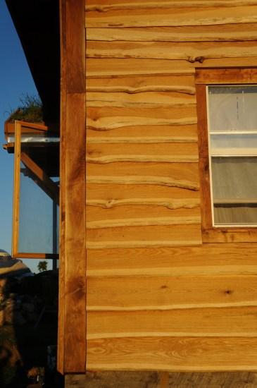 Straw Bale House: Live Edge Siding Detail