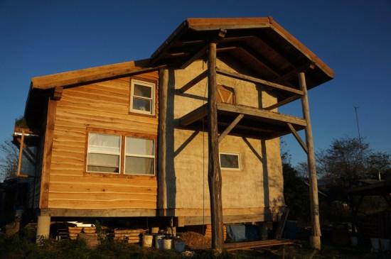 Live Edge Siding: Timber Frame House