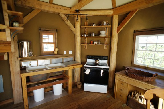 Straw Bale House Kitchen Area