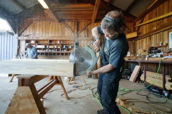 Timber Framing Drop Cut