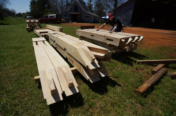 Staging Timbers for Delivery
