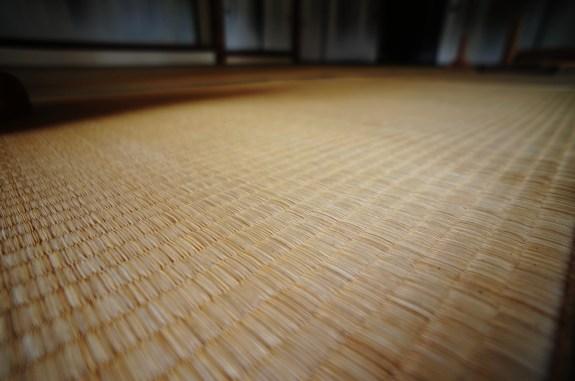 Traditional tatami mat floor