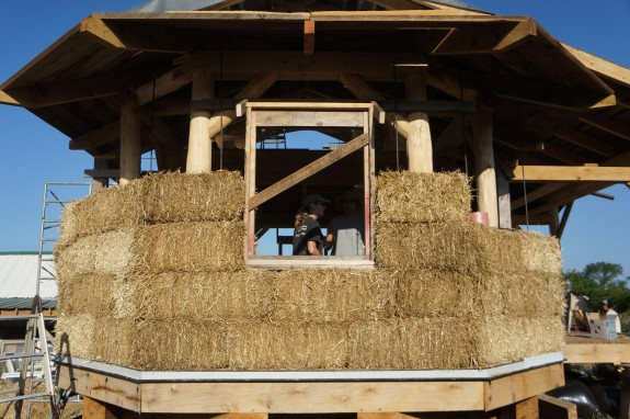 Timber Frame and Straw Bale House
