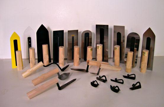 Plaster Tools: Japanese Trowels