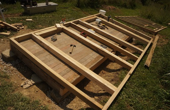 Outhouse 2x4 framing