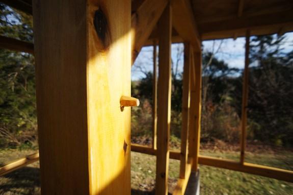 timber frame white oak trunnel