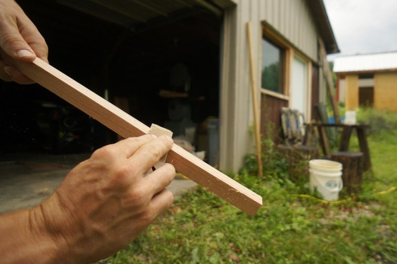 Japanese plaster hawk - handle