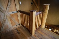 Building a DIY Wooden Interior Stair Railing | The Year of Mud