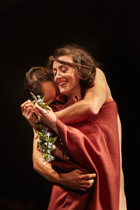 Hedydd Dylan as Lady Chatterley and Jonah Russell as Mellors -  Photo Credit: York Theatre Royal