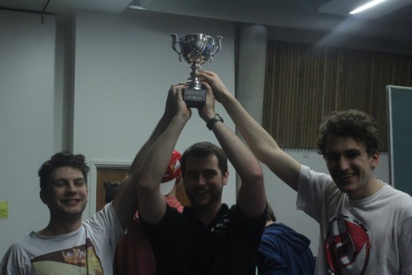 Shane 'Daddy Shane' Massaad, David 'Faraday' Meehan, and Jordan 'SynonymForTree' Reece, the victorious York captains