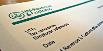 A close up with of a HMRC tax return.