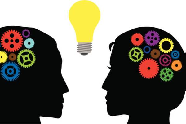 Human Heads with Colorful Gears Vector Illustration, from Mental Health America