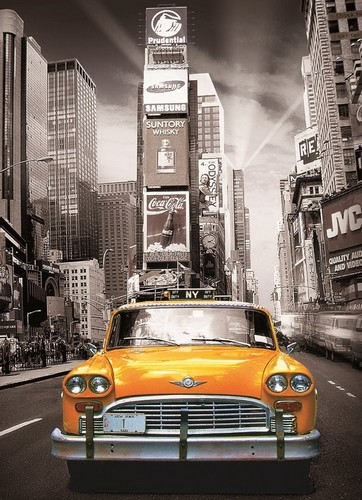 Black And White Vintage Car Wallpaper New York Yellow Cab 1000 Piece Yorkshire Jigsaw Store