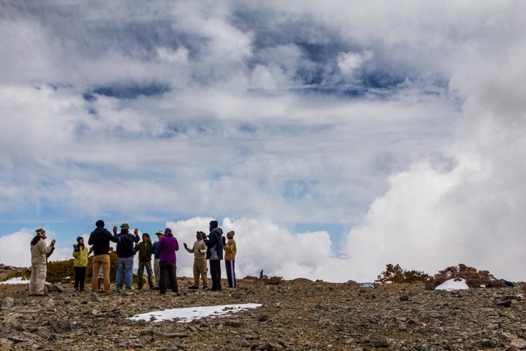 Charging Mt. Baldy with spiritual energy