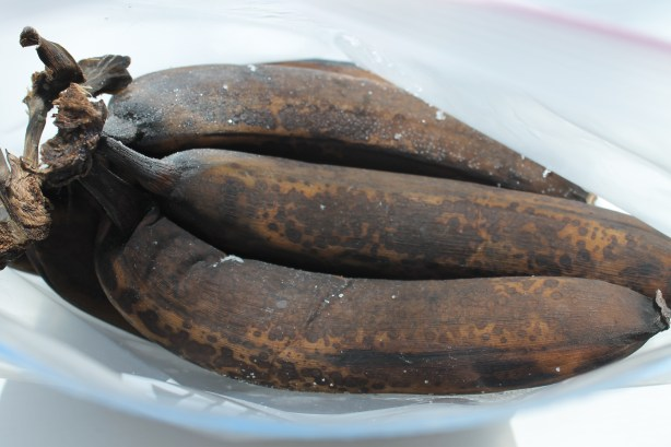 Very ripe bananas (frozen)