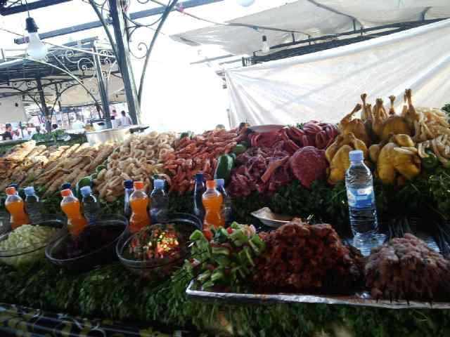 Common display at food stalls