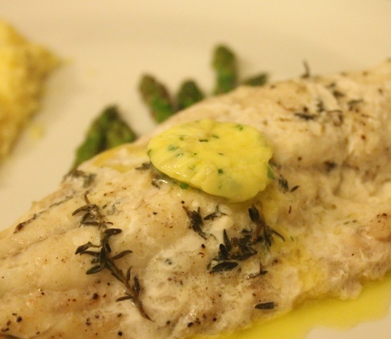 Compound Butter on Snapper