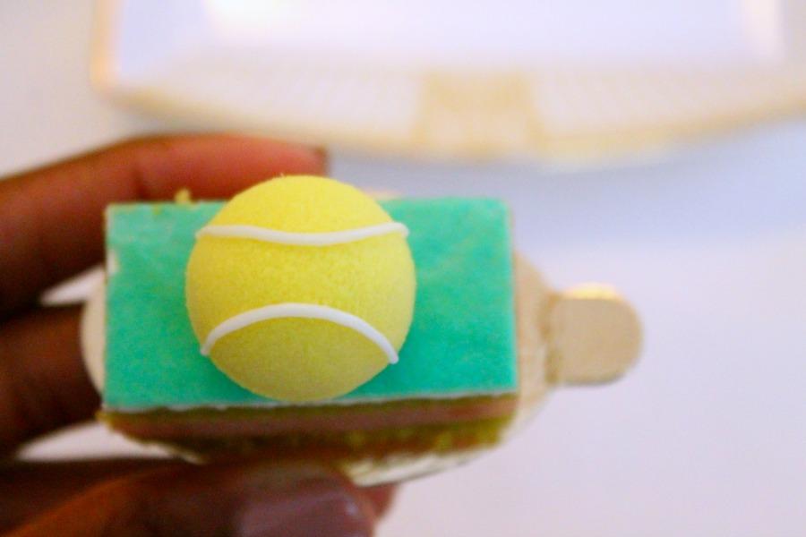 Wimbledon-themed dessert