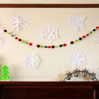 Felt Garland and Paper Snowflakes