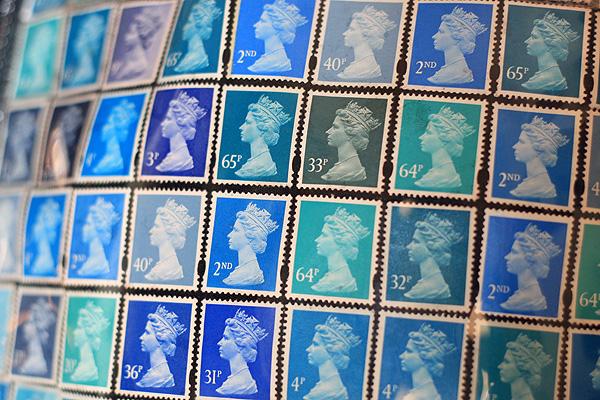 British Stamps Bag