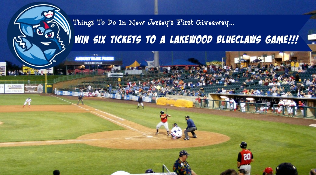 Win Six Tickets to a 2015 Lakewood BlueClaws Baseball Game from Things To Do In New Jersey! | find out more at www.thingstodonewjersey.com | #nj #newjersey #lakewood #blueclaws #baseball #minorleague #firstenergypark #thingstodo #fun #affordable #familyfriendly