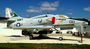 A Douglas A-4F Skyhawk on the grounds of the Millville Army Air Field Museum | ©thingstodonewjersey.com | millville army air field museum nj new jersey | aviation museums in new jersey | cumberland county | south jersey