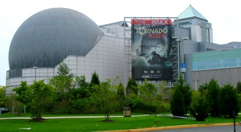 The Liberty Science Center features the world's largest IMAX dome theater. The 400-seat theater screens films selected for their visual appeal, content and interesting stories. | IMAX theater in NJ | IMAX theate in new jersey | things to do in jersey city nj