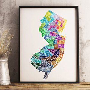 New Jersey word art print | nj cyber monday deals | new jersey cyber monday deals