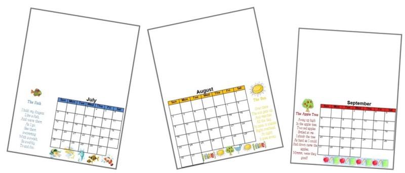 2017 Handprint Calendar Template Printable - assessment calendar template