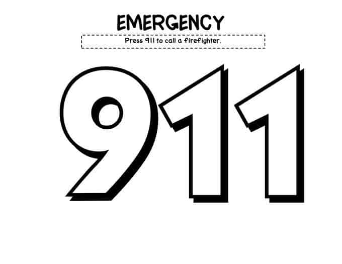 Coloring Pages For 911 Coloring Pages